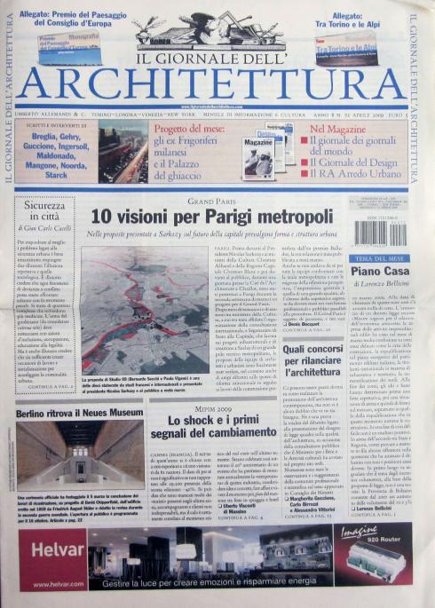 Il giornale dell'architettura, n.72, aprile 2009