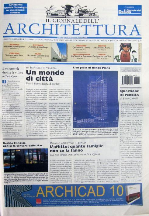 Il giornale dell'architettura, n.42, luglio agosto 2006