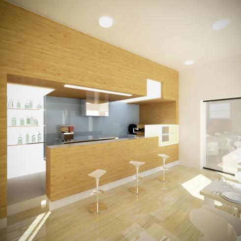 il bar della villa - versione legno