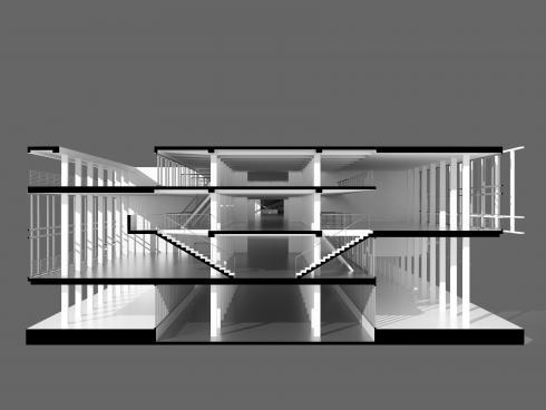 sezione del corpo uffici