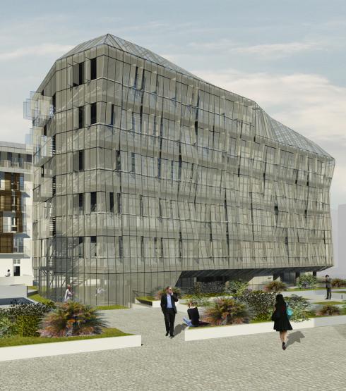 l'edificio degli uffici